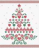 Διανυσματική άνευ ραφής σύσταση διακοσμήσεων χριστουγεννιάτικων δέντρων ελεύθερη απεικόνιση δικαιώματος