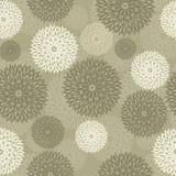 Διανυσματική άνευ ραφής ταπετσαρία των φανταχτερών λουλουδιών Στοκ εικόνες με δικαίωμα ελεύθερης χρήσης