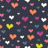 Διανυσματική άνευ ραφής τυπωμένη ύλη καρδιών Στοκ εικόνα με δικαίωμα ελεύθερης χρήσης