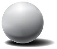 Διανυσματική άσπρη τρισδιάστατη σφαίρα με τη σκιά Στοκ εικόνες με δικαίωμα ελεύθερης χρήσης