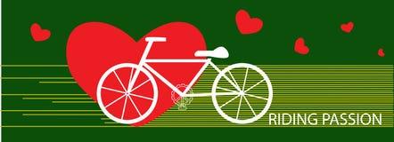 Διανυσματική έννοια άσκησης πάθους οδήγησης ποδηλάτων Στοκ Εικόνα