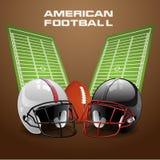 Διανυσματική έννοια αμερικανικού ποδοσφαίρου Ελεύθερη απεικόνιση δικαιώματος