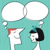Διανυσματική έννοια επικοινωνίας στο αναδρομικό ύφος Στοκ Εικόνα