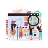 Διανυσματική έννοια επιχειρησιακής στρατηγικής για το έμβλημα Ιστού,  απεικόνιση αποθεμάτων