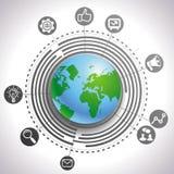 Διανυσματική έννοια μάρκετινγκ Διαδικτύου Στοκ Φωτογραφίες