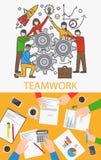 Διανυσματική έννοια ομαδικής εργασίας απεικόνιση αποθεμάτων