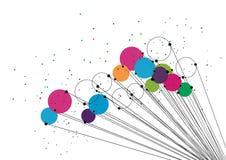 Διανυσματική έννοια τεχνολογίας Συνδεδεμένα γραμμές και σημεία Σημάδι δικτύων Στοκ εικόνα με δικαίωμα ελεύθερης χρήσης