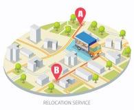 Διανυσματική έννοια υπηρεσιών επανεντοπισμού για το έμβλημα Ιστού, σελίδα ιστοχώρου ελεύθερη απεικόνιση δικαιώματος