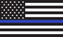 Διανυσματική αμερικανική σημαία αστυνομίας ελεύθερη απεικόνιση δικαιώματος