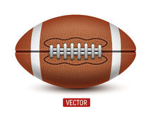 Διανυσματική αμερικανικό ποδόσφαιρο ή σφαίρα ράγκμπι που απομονώνεται πέρα από ένα άσπρο υπόβαθρο Στοκ εικόνες με δικαίωμα ελεύθερης χρήσης