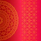 Διανυσματική ανασκόπηση Ισλάμ, αραβικά, ινδικά μοτίβα Κομψή ανασκόπηση με τη διακόσμηση δαντελλών και θέση για το κείμενο απεικόνιση αποθεμάτων