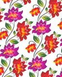 Διανυσματική ανασκόπηση λουλουδιών Στοκ Εικόνα