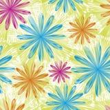 Διανυσματική ανασκόπηση με τα λουλούδια ελεύθερη απεικόνιση δικαιώματος