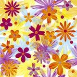 Διανυσματική ανασκόπηση με τα λουλούδια απεικόνιση αποθεμάτων