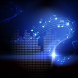 Διανυσματική ανασκόπηση με τις μουσικές νότες ελεύθερη απεικόνιση δικαιώματος