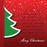 Διανυσματική ανασκόπηση χριστουγεννιάτικων δέντρων applique Στοκ εικόνα με δικαίωμα ελεύθερης χρήσης