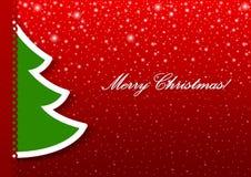 Διανυσματική ανασκόπηση χριστουγεννιάτικων δέντρων applique Στοκ Εικόνες