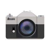 Διανυσματική αναδρομική κάμερα ύφους απεικόνιση αποθεμάτων