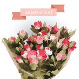 Διανυσματική ανθοδέσμη των τριαντάφυλλων Στοκ Εικόνα