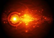 Διανυσματική απεικόνισης έννοια τεχνολογίας υψηλής τεχνολογίας ψηφιακή, αφηρημένο υπόβαθρο Στοκ εικόνα με δικαίωμα ελεύθερης χρήσης