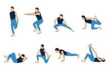 Διανυσματική απεικόνιση άσκησης Στοκ εικόνες με δικαίωμα ελεύθερης χρήσης