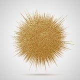 Διανυσματική απεικόνιση έκρηξης Ακτίνα ήλιων ή στοιχείο έκρηξης αστεριών με τα σπινθηρίσματα Η χρυσή χρυσή πυράκτωση στοιχείων Χρ διανυσματική απεικόνιση