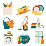 Διανυσματική απεικόνιση έννοιας εργασίας σπιτιών Στοκ Εικόνες