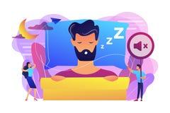 Διανυσματική απεικόνιση έννοιας νύχτας snoring απεικόνιση αποθεμάτων