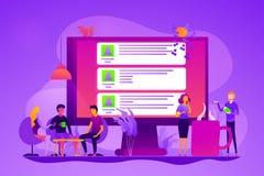 Διανυσματική απεικόνιση έννοιας φόρουμ Διαδικτύου ελεύθερη απεικόνιση δικαιώματος