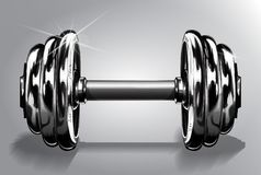 Διανυσματική απεικόνιση αλτήρων στο λευκό με το βάρος δίσκων Αθλητικός εξοπλισμός για την ανύψωση δύναμης και την κατάρτιση ικανό απεικόνιση αποθεμάτων