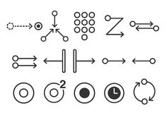 Διανυσματική απεικόνιση αποθεμάτων: Τα κινητά εικονίδια χειρονομίας αφής θέτουν 2 - απεικόνιση απεικόνιση αποθεμάτων