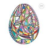 Διανυσματική απεικόνιση αυγών Πάσχας Συρμένο χέρι αφηρημένο υπόβαθρο διακοπών Στοκ Φωτογραφία