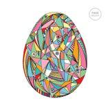 Διανυσματική απεικόνιση αυγών Πάσχας Συρμένο χέρι αφηρημένο υπόβαθρο διακοπών Στοκ Φωτογραφίες