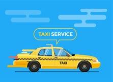 Διανυσματική απεικόνιση αυτοκινήτων ταξί Στοκ Φωτογραφία