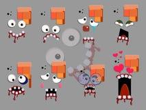 Διανυσματική απεικόνιση αυτοκόλλητων ετικεττών προσώπου Zombie Στοκ εικόνα με δικαίωμα ελεύθερης χρήσης