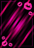 Διανυσματική απεικόνιση αφισών κομμάτων νύχτας κοριτσιών με τα λάμποντας ρόδινα χείλια Διανυσματική απεικόνιση