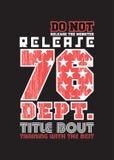 Διανυσματική απεικόνιση αφισών σχεδίου Varsity grunge ελεύθερη απεικόνιση δικαιώματος