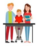 Διανυσματική απεικόνιση βοήθειας γονέων boy do homework απεικόνιση αποθεμάτων