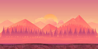 Διανυσματική απεικόνιση βουνών Στοκ Εικόνες