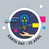 Διανυσματική απεικόνιση γήινης ημέρας Στοκ Φωτογραφίες