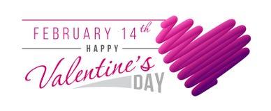 Διανυσματική απεικόνιση για την ημέρα βαλεντίνων ` s με το κείμενο και κακογραφία υπό μορφή καρδιάς ελεύθερη απεικόνιση δικαιώματος