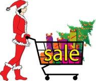 Διανυσματική απεικόνιση για την πώληση - νεράιδα Χριστουγέννων Στοκ φωτογραφία με δικαίωμα ελεύθερης χρήσης