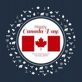 Διανυσματική απεικόνιση για τη ευχετήρια κάρτα, την αφίσα ή το έμβλημα για την ημέρα του Καναδά διανυσματική απεικόνιση
