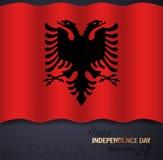 Διανυσματική απεικόνιση για τη ημέρα της ανεξαρτησίας της Αλβανίας διανυσματική απεικόνιση