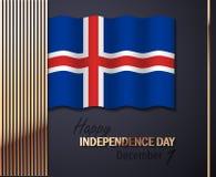 Διανυσματική απεικόνιση για τη ημέρα της ανεξαρτησίας της Ισλανδίας διανυσματική απεικόνιση