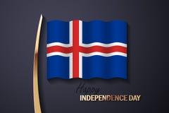 Διανυσματική απεικόνιση για τη ημέρα της ανεξαρτησίας της Ισλανδίας ελεύθερη απεικόνιση δικαιώματος