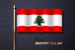 Διανυσματική απεικόνιση για τη ημέρα της ανεξαρτησίας του Λιβάνου απεικόνιση αποθεμάτων