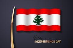 Διανυσματική απεικόνιση για τη ημέρα της ανεξαρτησίας του Λιβάνου διανυσματική απεικόνιση