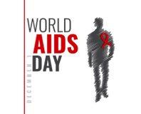 Διανυσματική απεικόνιση για τη Παγκόσμια Ημέρα κατά του AIDS ελεύθερη απεικόνιση δικαιώματος