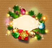 διανυσματική απεικόνιση για τη Χαρούμενα Χριστούγεννα και καλή χρονιά Gre διανυσματική απεικόνιση